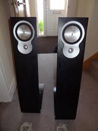 designer rare solid oak celestion avf302 main stereo speakers