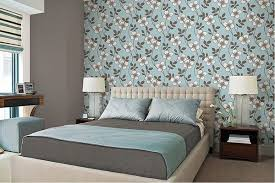 bedroom with brown wallpaper decorating room ideas general 20 captivating bedrooms with floral wallpaper designs home design
