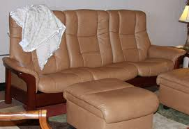 High Back Leather Recliner Chair Stressless Buckingham 3 Seat High Back Sofa Paloma Taupe Color