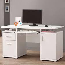 White Modern Computer Desk Enchanting Modern Computer Desk Simple Home Design Inspiration