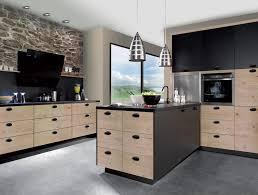 cuisine bois et gris davaus idee cuisine bois et gris avec des idées