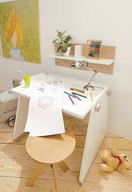 wooden kids office room with desk chairs