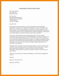 13 cover letter for internship sample letter signature