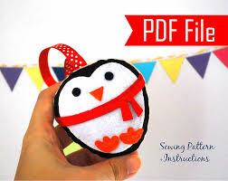 diy penguin ornament pdf cookie sewing pattern