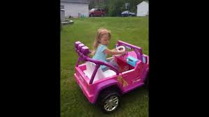 barbie jammin jeep mila in her new barbie deluxe jeep vs bronco mower youtube