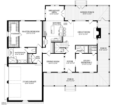 dimensioned floor plan country style house plan 5 beds 4 baths 3039 sq ft plan 137 255