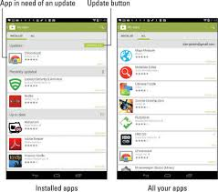 how to update apps android how to manage your android tablet apps dummies