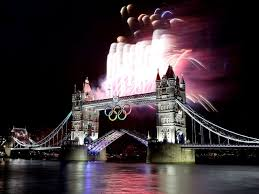 olympic rings london images Wallpaper tower bridge olympic rings london fireworks night jpg