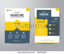 flyer design vector business brochure free vector stock