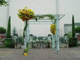 chuppah poles garden weddings dirt simple