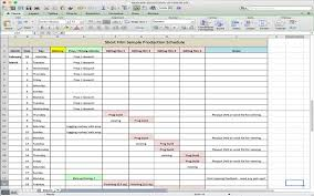 Schedule Excel Templates Shooting Schedule Template Shooting Schedule Production Schedule