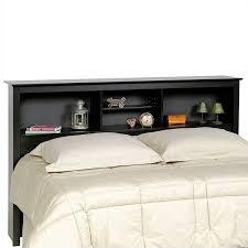 Bookcase Storage Beds Bookcase Platform Storage Bed With Headboard In Black Bbx Xx00 Mkit