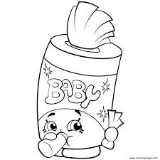 baby swipes shopkins season 2 coloring pages printable