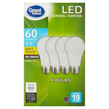 great value led general purpose bulbs 9w 60w equivalent soft