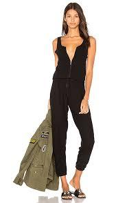 zipper jumpsuit michael royal zipper jumpsuit in jet black revolve