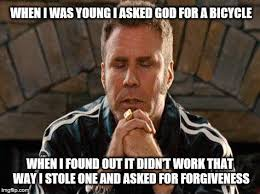 Prayer Meme - ricky bobby praying meme generator imgflip