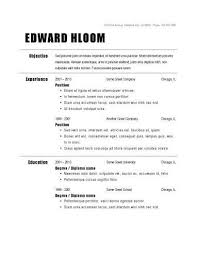 Free Easy Resume Template 1000 Images About Basic Resume On Pinterest High