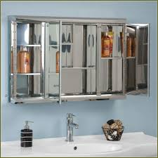 bathroom cabinet with folding mirrors home