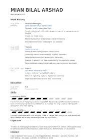 portfolio manager resume samples visualcv resume samples database