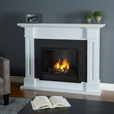 real flame kipling 53 inch gel fireplace with mantel white