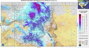 colorado snowpack map halfway through season snowpack in u s thins imageo