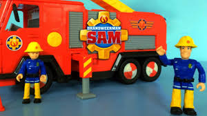 fireman sam toys unboxing deluxe jupiter simba fire truck