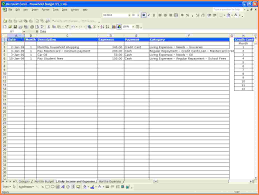 Family Budget Spreadsheet 10 Monthly Expenses Spreadsheet Template Excel Spreadsheets Group