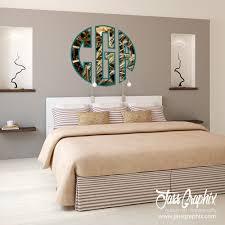 monogrammed camouflage decals for cars laptops walls modern bedroom interior 3d render