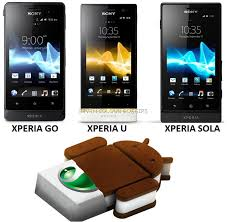 android ics android 4 0 4 sandwich ics update for sony xperia u