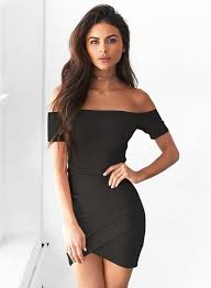 black bodycon dress sleeve shoulder bodycon irregular dress novashe
