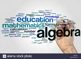 algebra word cloud concept stock photo royalty free image