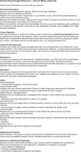 Occupational Therapy Resume Examples by Resume Example Psychologist Resume Sample