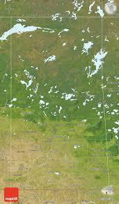 Blank Map Of Saskatchewan by Satellite Map Of Saskatchewan