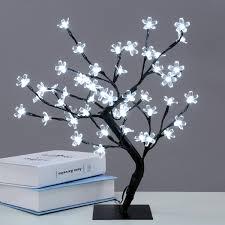 48led cherry blossom desk bonsai tree light table fairy twig lamp does not apply