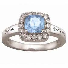 zirconia stone rings images 10k white or yellow gold simulated birthstone and cubic zirconia jpg