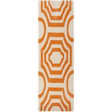 Orange Runner Rug Tufted Lakehills Orange Runner Rug 2 6 X 8 Free Shipping