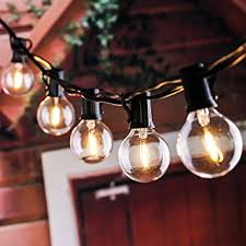 25ft g40 globe string lights with clear led bulbs energy saving