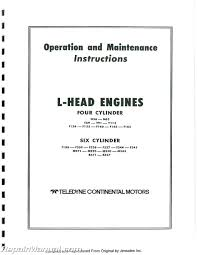 continental red seal l head engine service manual