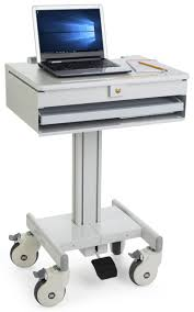 Laptop Desk Cart by Medical Laptop Cart Locking Drawer