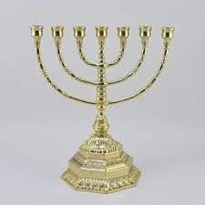 candeliere ebraico candelabro ebraico in ottone lucido menorah 7 braccia misura media