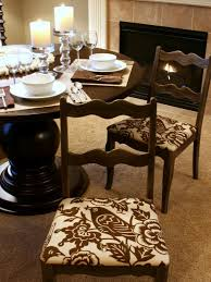 Fabric To Cover Dining Room Chairs How To Re Cover A Dining Room Chair Hgtv
