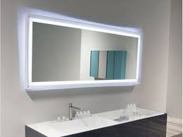 bathroom rectangular led lighted bathroom mirror ideas cool