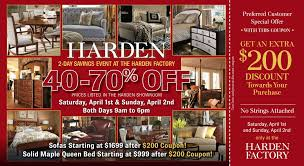 Harden Bedroom Furniture by Harden Sale Dunk U0026 Bright Furniture Syracuse Utica Binghamton