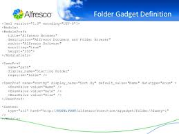 gadgets definition enterprise google gadgets integrated with alfresco open source ecm