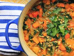 vegan curry butternut squash soup with kale recipe serious eats
