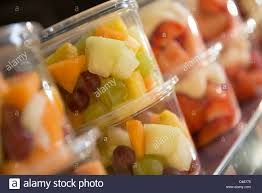 fruit salad pots for sale stock photo royalty free image