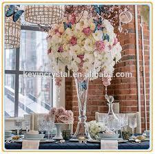 Tall Vase Centerpieces Clear Glass Trumpet Tall Vase Flower Vase Wedding Centerpiece