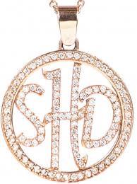 three initial monogram necklace gorgeous three initial monogram necklace from grey designs
