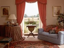 Formal Dining Room Curtain Ideas Adorable Soft Red Living F