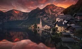 presetpro hdr photography dusk in hallstatt austria